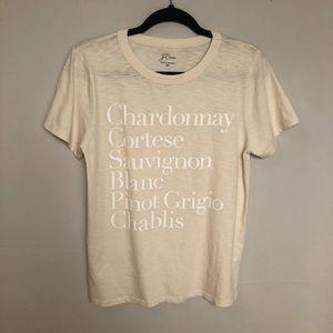 J Crew Chardonnay Pinot Grigio Wine List Graphic M